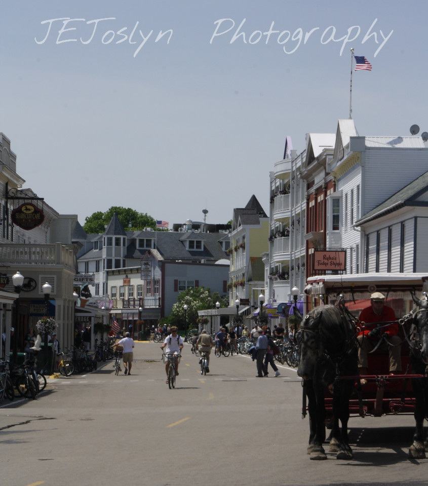 Upper/lower Michigan, bicycle trip with Cousins and Friends, this is at Mackinac Island.