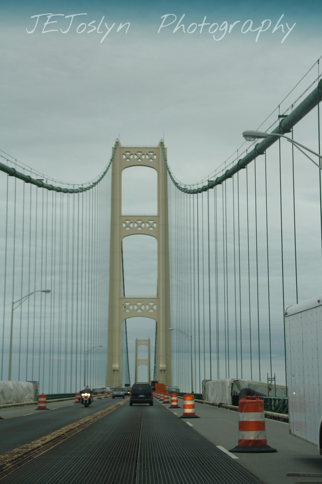Mackinac Bridge - Upper/Lower Michigan Upper/lower Michigan, bicycle trip with Cousins and Friends, including the Mackinac Island.