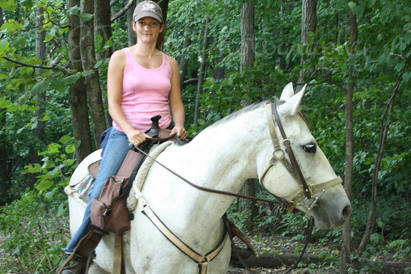 PEPPER - Horse Trip-Forestville MN State Park-8-28-10