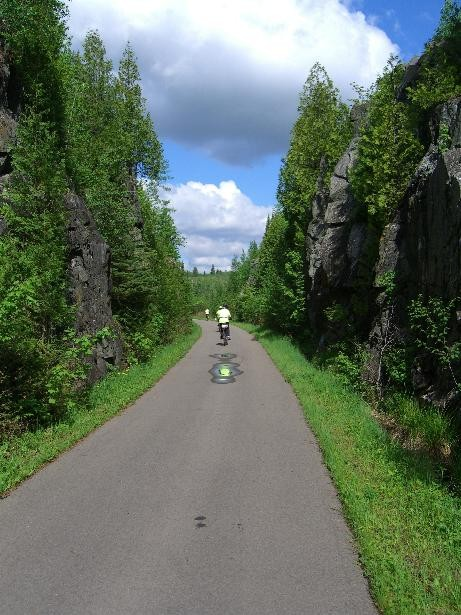 The Trail as seen by Berry, thanks for the photo, very nice.   Bike Ride, June, 2006, Mesabi Trail, northern Minnesota
