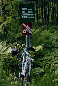 Bike Ride, June, 2006, Mesabi Trail, northern Minnesota.  My bike, Trek, 400.