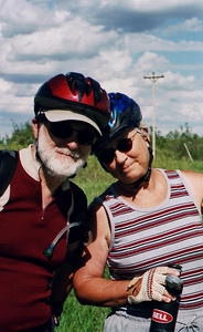 The Cousin and hubby - Bike Ride, June, 2006, Mesabi Trail, northern Minnesota