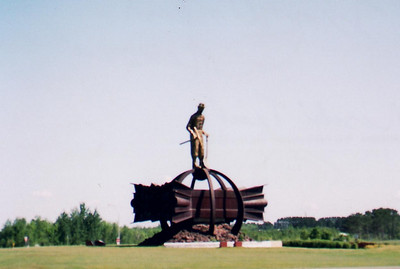 Iron Workers Memorial - outside of Chisholm.  Bike Ride, June, 2006, Mesabi Trail, northern Minnesota