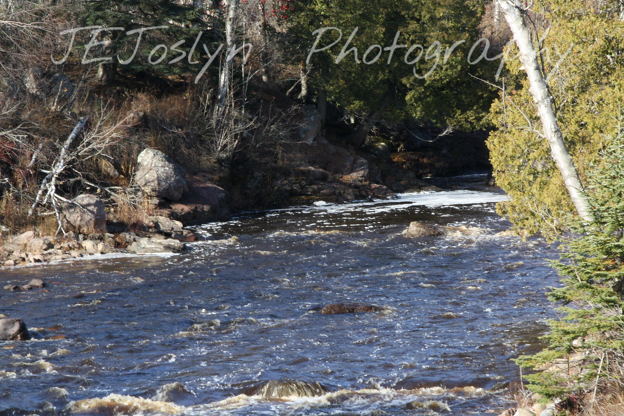 Gunflint Trail area, Minnesota, Temperance River.  October 30, 2009