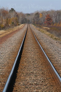 End of the trail.....a BNSF track, the Hwy 65 crossed over.
