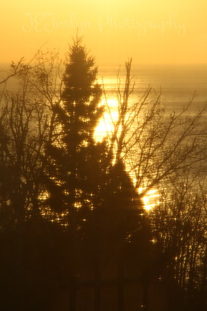 Sunrise, north of Silver Bay . Spirit of Gitche Gumee B and B, near Little Marais, MN, North Shore Drive, along Lake Superior.