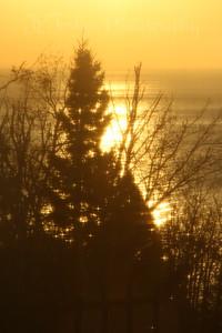 Sunrise, north of Silver Bay . Spirit of Gitche Gumee Bread and Breakfast, near Little Marais, MN, North Shore Drive, along Lake Superior.