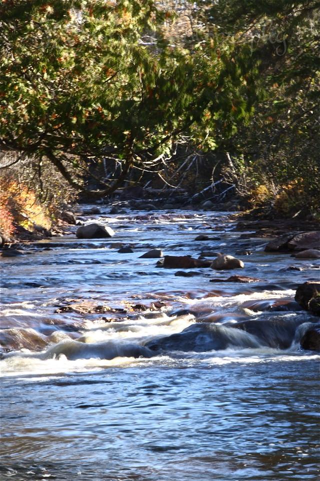 Manitou River, near Little Marais, MN, North Shore Drive, along Lake Superior.