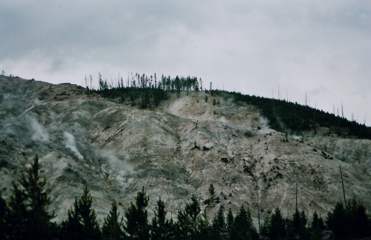 A hillside full of hot VENTS, all steaming.