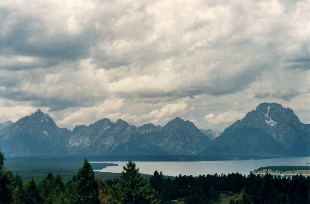 View of The Grand Tetons from Signal Hill.