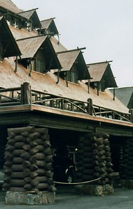 You know this, it's Yellowstone National Park, Wyoming, the famous Old Faithful Lodge.