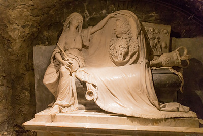 A tomb in the cyrpt of Christchurch Cathedral, Dublin, Ireland.