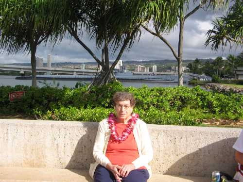 Sunday - Nadine at the Arizona Memorial museum - Bowfin submarine in<br /> background