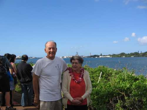 Don and Nadine with Arizona Memorial in background
