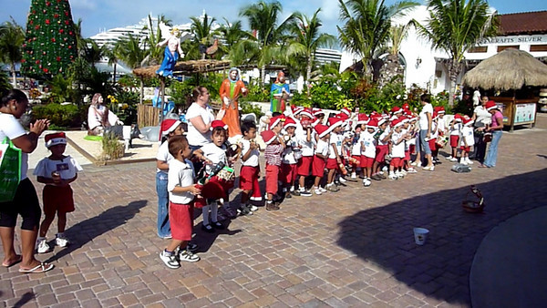 Cozumel Mexico - These kids were so cute, singing Christmas songs.