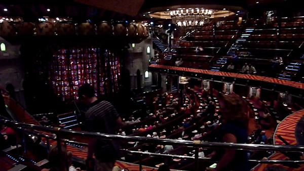 This is the main theater aboard our ship, where thy put on tremendous musicals, that we were not aloud to film.