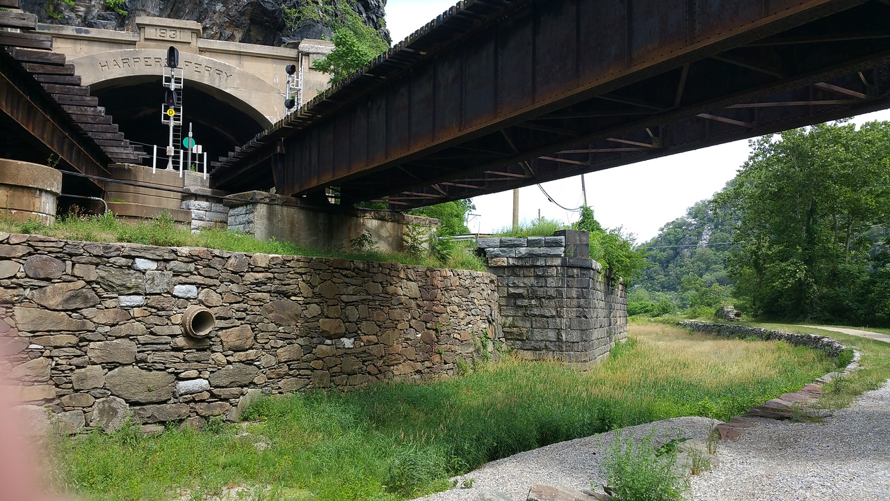 C & O Canal & The Railroad tunnel