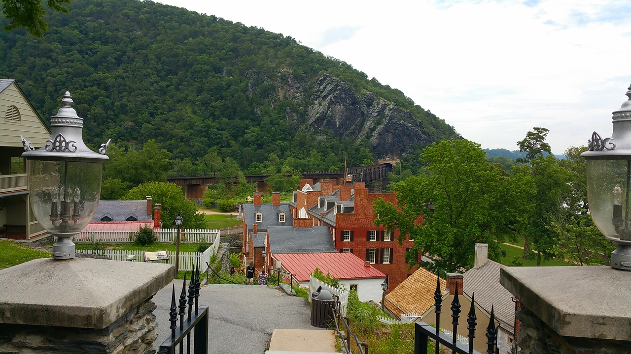 Harper's Ferry, WV - View from Saint Peter's Roman Catholic Church, watching a train come through the tunnel.