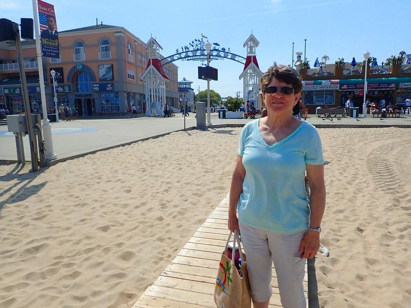 Ocean City, MD, Edie dressing up the boardwalk.