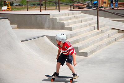 Noah & Jack at the Edwards, Colorado Skate Park - May 2007