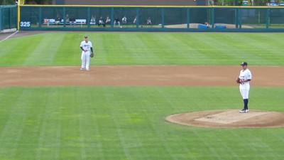 Manny takes a pitch