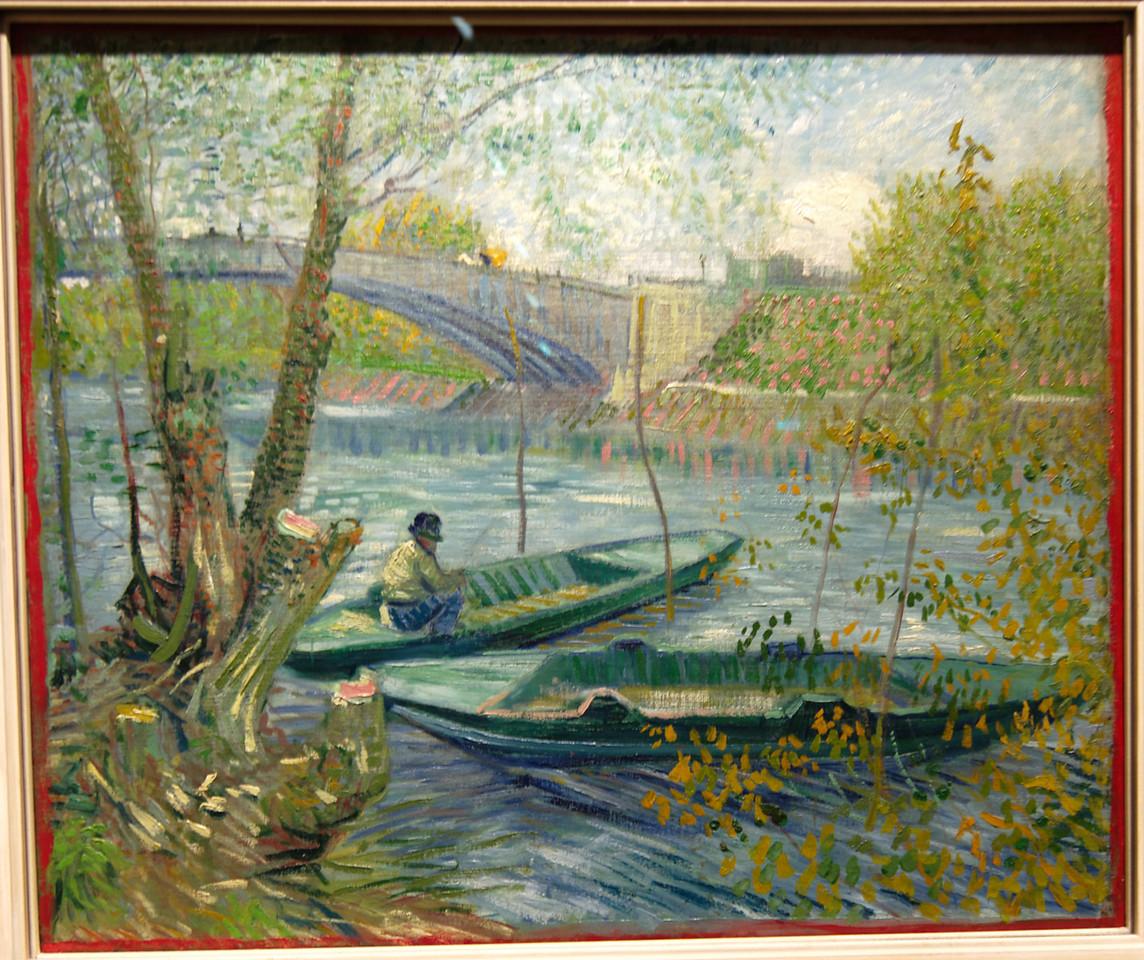"Art Institvte Chicago Vincent Van Gogh ""Fishing in Spring, the Pont de Clichy"" 1887"