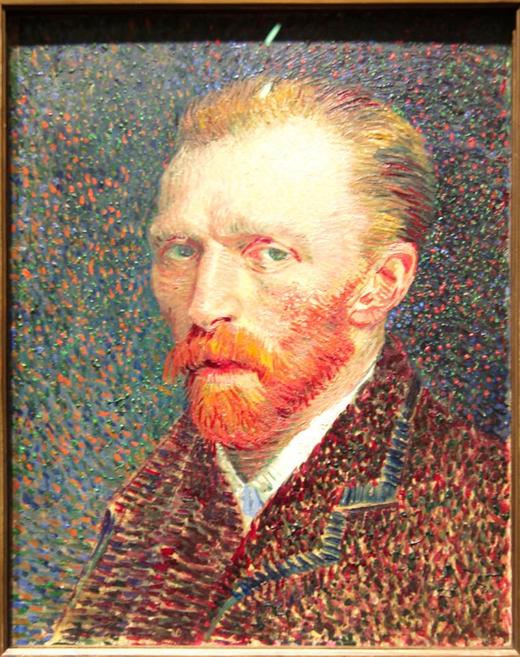 "Art Institvte Chicago Vincent Van Gogh ""Self - Portrat"" 1887"