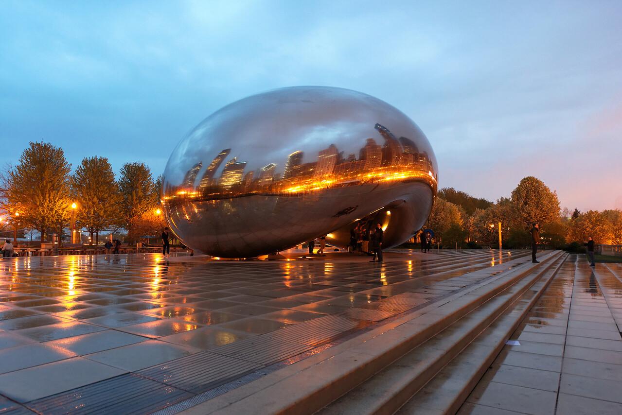 The Bean in Millennium Park.