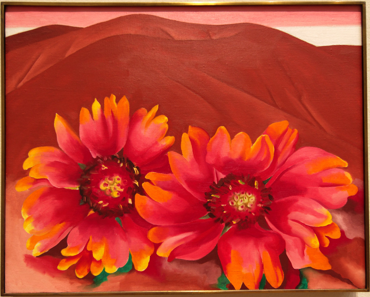 """Art Institvte Chicago Georgia O'Keeffe """"Red Hills with Flowers"""" 1937"""