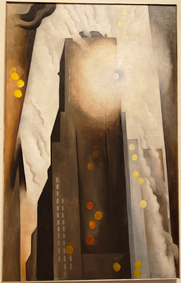 """Art Institvte Chicago Georgia O'Keeffe """"The Shelton with Sunspots, N.Y. 1926"""