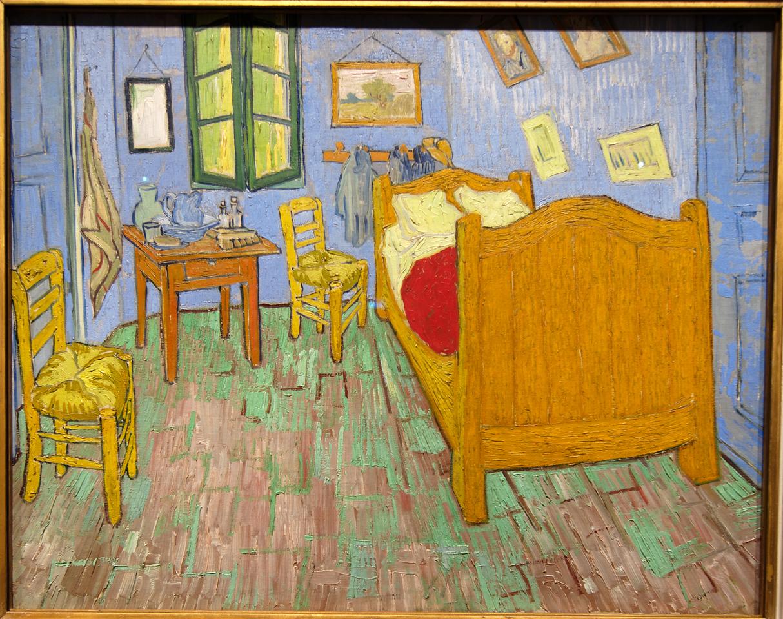"Art Institvte Chicago Vincent Van Gogh ""The Bedroom"" 1889"