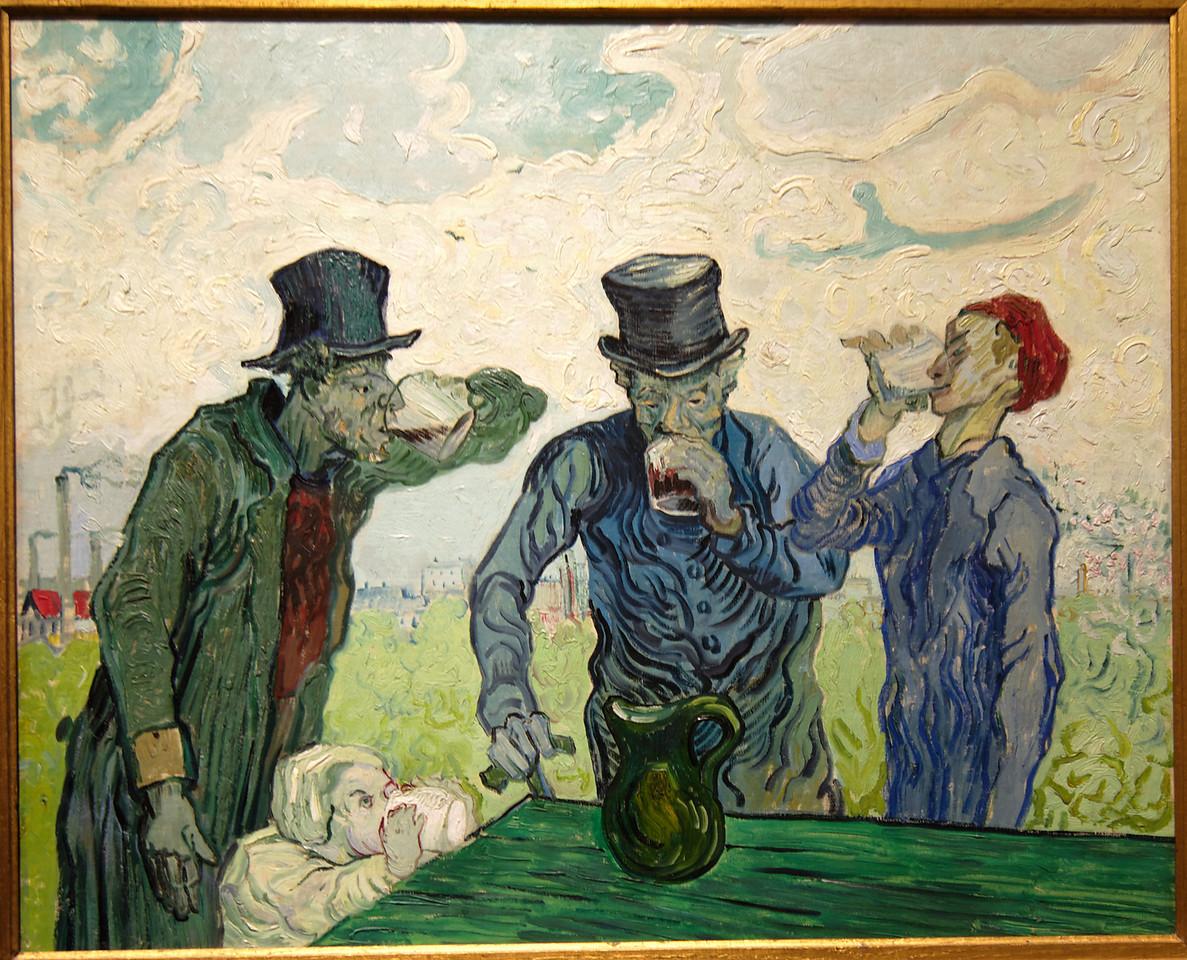 "Art Institvte Chicago Vincent Van Gogh ""The Drinkers"" 1890"