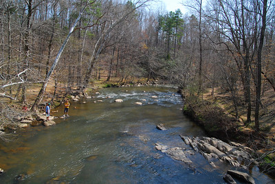 from the foot bridge looking down on the Eno