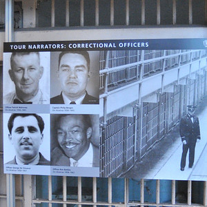 photos of the former officers that you hear during the audio tour