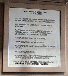 the rules for having visitors
