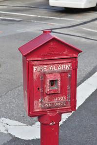 a vintage fire alarm