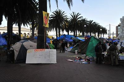 a large hippy tent city