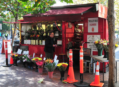 a flower stand