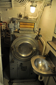 in the crew's head, this is the washing machine