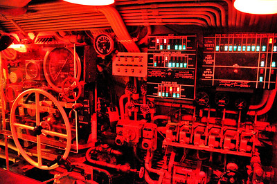the control room is all lit in red, just like when it was operational