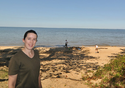 this is the beach that provided access to the Potomac for the plantation