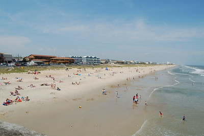 Kure beach from the pier