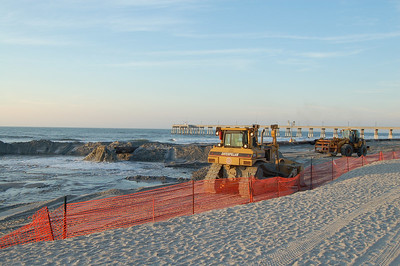 the sand replenishment project