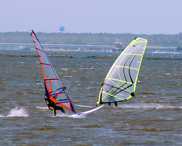 Windsurfers on the 'Basin'