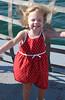 lauren cute hair blowing okracoke ferry