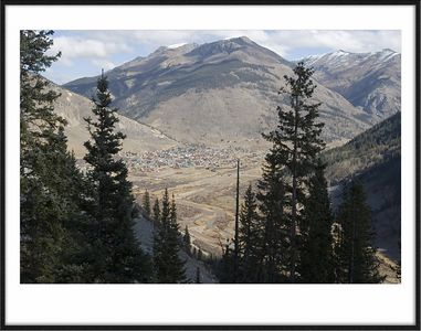 Looking down on the town of Silverton, CO