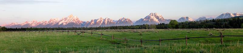 Grand Teton Range at Sunrise from US Hwy 89