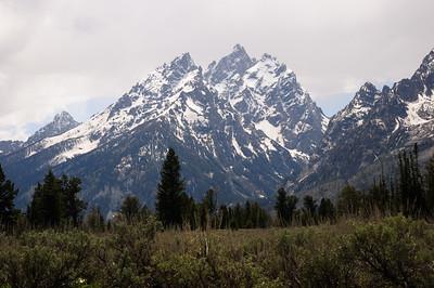 Grand Teton Peak from Teton Park Rd.