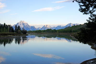 Mount Moran from Oxbow Bend on the Snake River