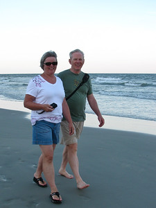 A stroll on the beach after dinner